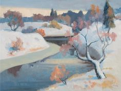 Onni Oja (Finnish, The First Snow, s. Nordic Art, First Snow, Abstract, Painting, Master Art, Artists, Colors, Summary, Paintings