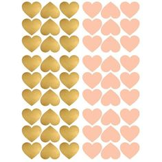 PÖM le Bonhomme Gold and Pink Heart Wall Stickers - Home & Me Baby Bedroom, Girls Bedroom, Wall Stickers Home, Kidsroom, Kids Playing, Pink Roses, Pink And Gold, Poster Prints, Heart Wall
