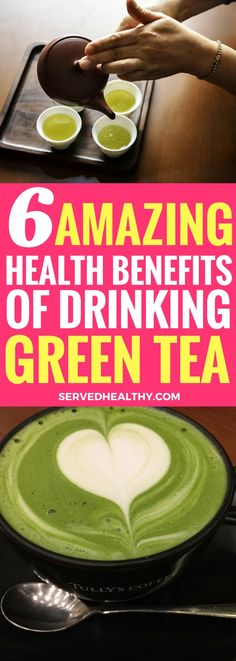 6 Outstanding Health Benefits Of Drinking Green Tea - Served Healthy Get Healthy, Healthy Life, Healthy Living, Healthy Herbs, Tea Recipes, Smoothie Recipes, Healthy Recipes, Health Benefits, Health Tips