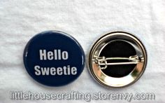 Want to use River Song's catchy line? Let this button do the talking!  Show your love for this fandom with this button!  Button is 1.25 inches in diameter.  Button designs are original artwork by me.  Buttons are professionally printed and assembled by me in a smoke-free environment.  T...