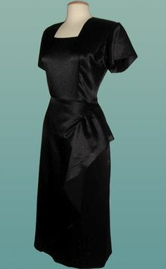 vintage rayon 1940s dress