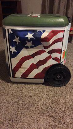 Cooler for boyfriend, American flag