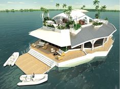 A man-made, floating 'island' — yours for a few million