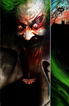 Dave McKean's Art in Arkham Asylum. I remember first reading this..