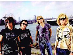Bon Jovi Authentic Group Signed 8x10 Autograph Photo - Jon Bon Jovi, Richie Sambora, David Bryan, Tico Torres