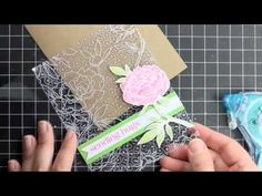 video of four cards from one stamp; each uses different media--distress inks, acetate, watercolor pencils, paper tree. worth watching again!