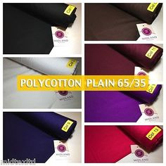 New plain poly#cotton #fabric 60 colours poly #cotton dress #craft m340,  View more on the LINK: http://www.zeppy.io/product/gb/2/201784755592/