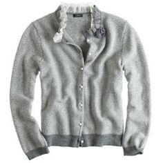 J. Crew Sweaters - NWT J. Crew Dream ruffle herringbone cardigan
