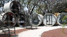 Rolling in the deep: The drain pipe hotel Glamping, Sleep Box, Low Loft Beds, Capsule Hotel, Concrete Houses, Park Hotel, Home Wall Decor, Home Remodeling, Tiny House