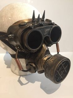Steampunk Respirator Gas Mask And Goggles, With Pipework Post Apocalyptic Survival, Mad Max, Burning Man Wasteland Style And Flip Up Goggles by Steampunkbyben on Etsy
