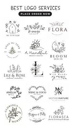 Minimal Logo Design, Create Logo Design, Logo Services, Kreis Logo Design, Watermark Ideas, Logo Design Inspiration, Design Ideas, Flower Logo, Custom Logo Design