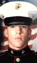 Marine LCpl Travis R. Desiato,19, of Bedford, Massachusetts. Died November 15, 2004, serving during Operation Iraqi Freedom. Assigned to 1st Battalion, 8th Marine Regiment, 2nd Marine Division, II Marine Expeditionary Force, Marine Corps Base Camp Lejeune, North Carolina. Died of injuries sustained from hostile fire during combat operations in Fallujah, Anbar Province, Iraq.