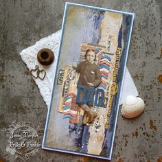 Tim Holtz Correspondence Etcetera Remnant Rubs Card for The Funkie Junkie Boutique 1
