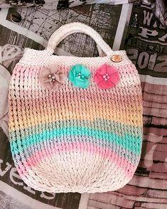 REJAdekor / Kabelka pastelová ROMANTIC Straw Bag, Inspire, Romantic, Crochet, Bags, Inspiration, Handbags, Biblical Inspiration, Ganchillo