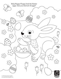Cute Easter Coloring Printable - Help your little bunnies twist and turn their way through the maze to find Hoppy Floppy's basket decorated egg basket. Peacock Coloring Pages, Easter Coloring Pages, Coloring Pages For Girls, Cool Coloring Pages, Coloring For Kids, Easter Activities For Kids, Easter Games, Easter Crafts For Kids, Bible Verse Coloring Page