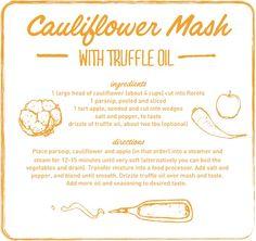 cauliflower mash with truffle oil