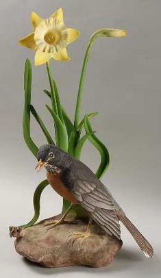 Boehm Boehm Birds Robin W/Daffodils - Nb1038, No Box
