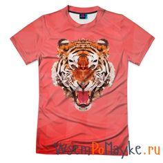 Мужская футболка 3D с полной запечаткой Полигональный Тигр - интернет магазин WsemPoMayke.Ru http://wsempomayke.ru/product/manshortfull/1002637  Доставка по России курьером или почтой, оплата при получении. Мужская футболка 3D с полной запечаткой Полигональный Тигр купить с доставкой, оплата при получении. Посмотреть размеры и цену > http://wsempomayke.ru/product/manshortfull/1002637