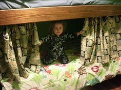 bunk bed curtains Great idea for Pumpkin's bed