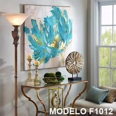 Turquoise and Gold Flower Canvas Art Print - Rebekka W. - - Turquoise and Gold Flower Canvas Art Print living room colors Turquoise and Gold Flower Canvas Art Print Canvas Art Prints, Canvas Wall Art, Painting Canvas, Diy Painting, Pintura Graffiti, Flower Canvas Art, Living Room Pictures, Living Room Colors, Living Rooms