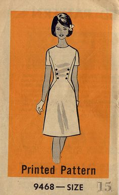 Draw attention to the waist with clever seams and button placement (1960s pattern)