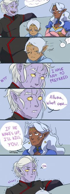 Altean!Lance #5 Headcanon about naive Lance's childhood, where Lotor mocked him and about Allura which much cares about the brother. 2/2