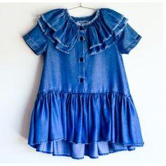 Wolf & Rita Kleid Alice Tencel Blue