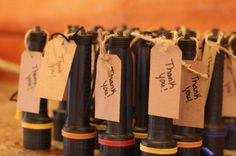 Flash light favors for camping party