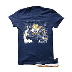 Jordan 11 Low Midnight Navy Gum Navy Blue T Shirt (Team Meeting)