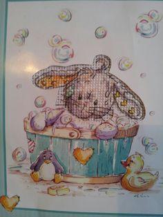 Rabbit in bath
