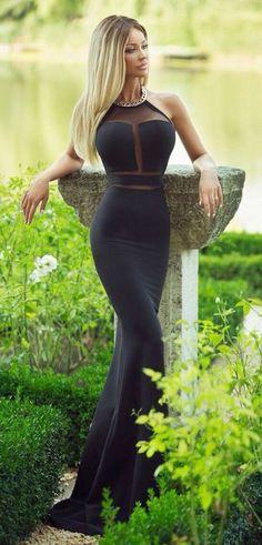dress black mermaid dress evening dress long dress black long dress black dress sleeveless prom dress long prom dress gala dress sheer top tight dresses black tight dress
