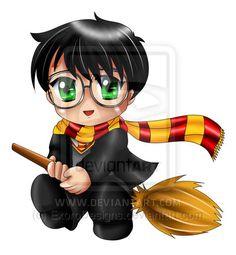 Harry Potter Chibi by ExoroDesigns.deviantart.com on @deviantART