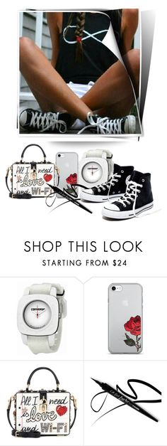"""""""Converse by winter-summer: Summer #2."""" by babysnail ❤ liked on Polyvore featuring Converse, Dolce&Gabbana, Madewell, iphone, dolceandgabbana, converse and BlackWhite"""