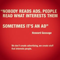 Nobody Reads Ads