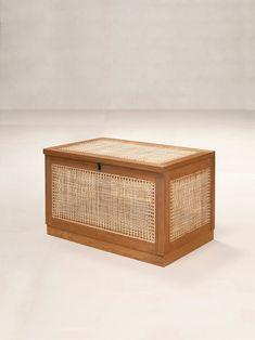 Linen Baskets, Pierre Jeanneret, Vintage Laundry, Contemporary Furniture, Laundry Basket, Textile Design, Teak, Decorative Boxes, Projects