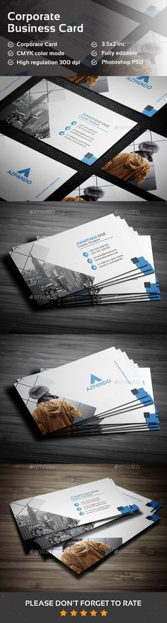 Business Card  #creative #designer • Click here to download ! http://graphicriver.net/item/business-card/15953824?ref=pxcr