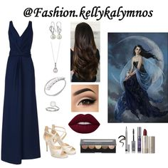 Fashion set Girl of the moon created via Dress Styles, Art Decor, Moon, Creative, Dresses, Design, Fashion, The Moon, Vestidos