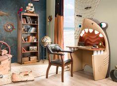 bedroom Furniture Design - 15 Creative and Cool Kids Bedroom Furniture Designs Kids Bedroom Furniture Design, Kids Room Design, Unique Furniture, Kids Furniture, Bedroom Ideas, Nursery Design, Nursery Ideas, Shark Bedroom, Pirate Bedroom
