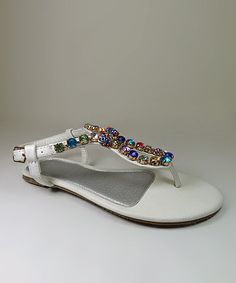 Loving this White Smarty Sandal on #zulily! #zulilyfinds