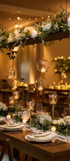 This wedding table set up is perfection.