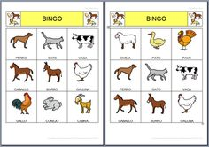 Spanish Classroom, Teaching Spanish, Spanish Games, Educational Games For Kids, English Activities, Kindergarten Lessons, Animal Projects, Special Education, Middle School