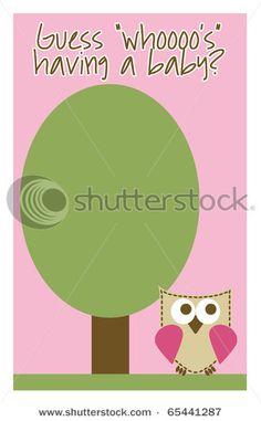 Owl baby shower invite