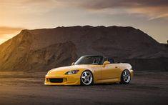 تحميل خلفيات 4k, هوندا S2000, cabriolets, الموقف, شيلت, ضبط, هوندا, السيارات اليابانية, S2000
