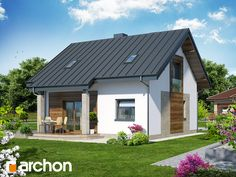 Dom w idaredach 3 Simple House Design, Prefabricated Houses, Tiny House Plans, Home Fashion, My Dream Home, My House, House Styles, Outdoor Decor, Home Decor