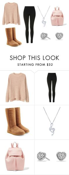 """How to Wear Uggs"" by hahamed on Polyvore featuring MANGO, Topshop, UGG, BERRICLE, Mansur Gavriel and David Yurman"