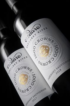 The 1000 Crowns series of wines represent the ultimate expression of the Credaro Family Estate, Western Australia. Western Australia, Crowns, Wines, Packaging Design, Branding, Graphic Design, Studio, Bottle, Photography