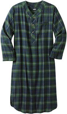 Amazon.com: KingSize Men's Big & Tall Plaid Flannel Nightshirt - Big - 3XL/4X, Balsam Plaid Pajamas: Clothing Mens Big And Tall, Big & Tall, Mens Nightshirts, Big And Tall Outfits, Mens Flannel, Flannel Pajamas, Sleep Set, Clothes For Women, Mens Tops