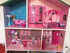 Minha casa da Barbie customizada MDF - Mikaela & Sofhia