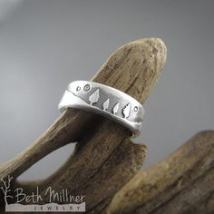 Custom Family of Four Diamond Starry Sky Mother's Ring by Beth Millner Jewelry