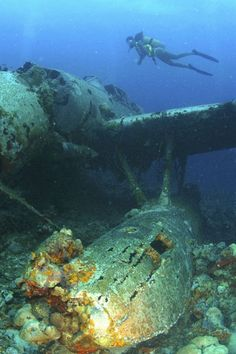 WWII Wrecks in the South Pacific, shows the ships that have fallen and still remain where they were originally sunk. Pacific